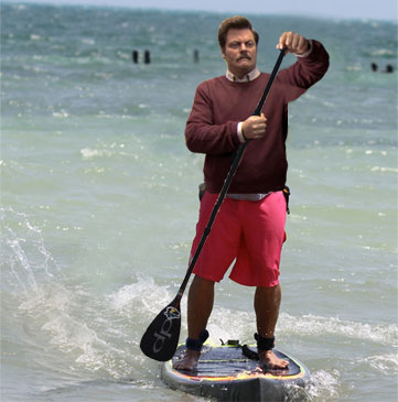 ron-swanson-paddle-boarding